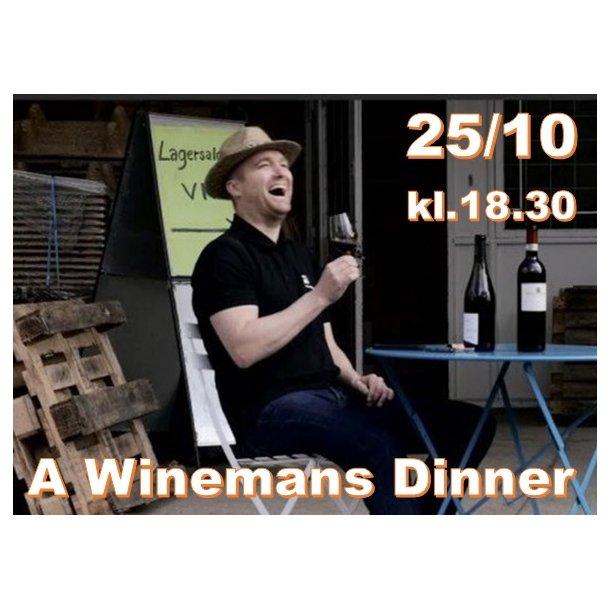 A Winemans Dinner - 25/10 kl. 18.30