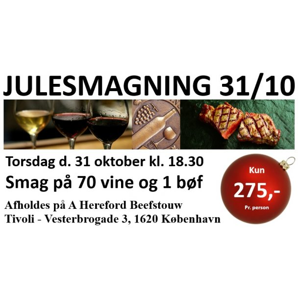Julesmagning 31/10-2019 - Tivoli København